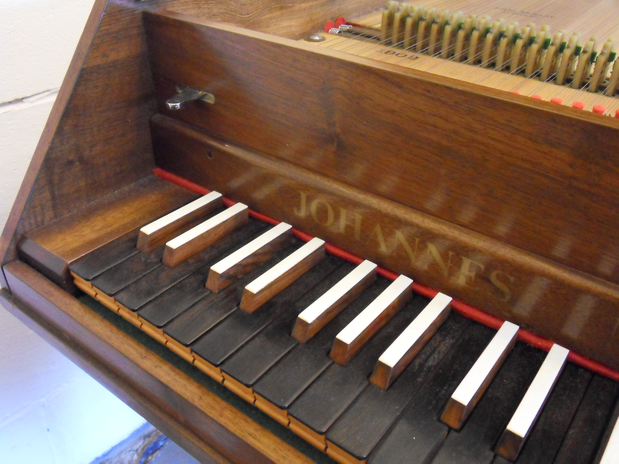 Harpsichord By John Morley 8 Foot And 4 Foot Stops With
