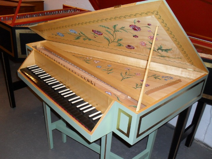 harpsichord soundboard paintings and case decoration